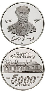 5000 forint 200th anniversary of Birth of Erkel Ferenc - 2010 - Series: Silver forint coins - Hungary