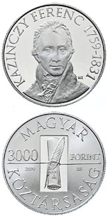 3000 forint coin 250th Anniversary of the birth of the Ferenc Kazinczy | Hungary 2009