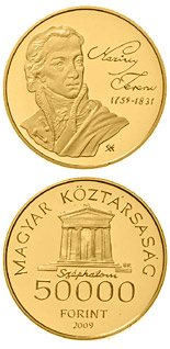 50000 forint coin 250th Anniversary of the birth of the Ferenc Kazinczy | Hungary 2009