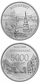 5000 forint coin Budapest  | Hungary 2009