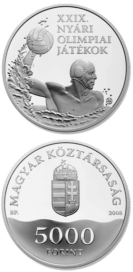 Image of a coin 5000 forint | Hungary | XXIX. Summer Olympic Games | 2008