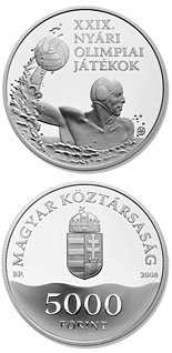 5000 forint XXIX. Summer Olympic Games - 2008 - Series: Silver forint coins - Hungary
