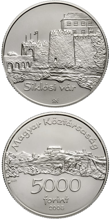Image of a coin 5000 forint | Hungary | Castle of Siklós | 2008