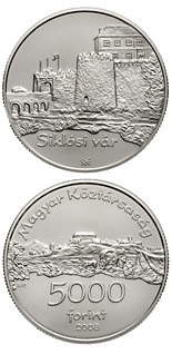 5000 forint Castle of Siklós - 2008 - Series: Silver forint coins - Hungary