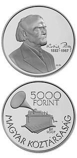 5000 forint 125th Anniversary of the Birth of Zoltán Kodály - 2007 - Series: Silver forint coins - Hungary