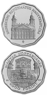 5000 forint Debrecen Reformed Churche - 2007 - Series: Silver forint coins - Hungary