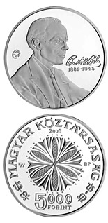 5000 forint coin 125th Anniversary of the Birth of Béla Bartók | Hungary 2006