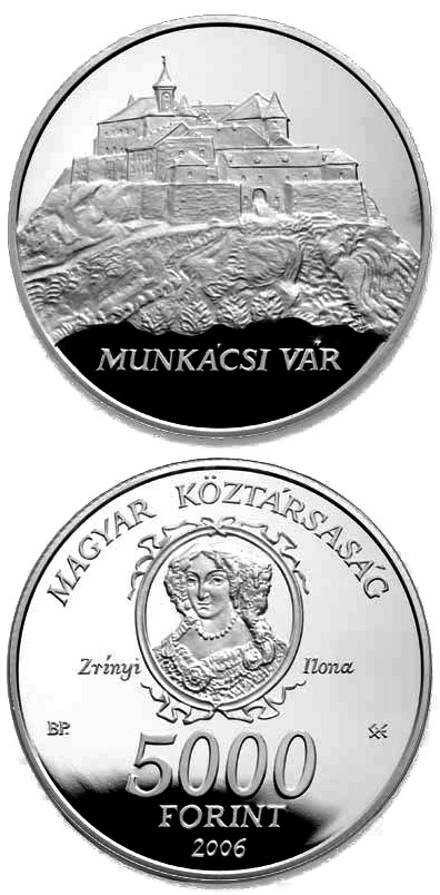 Image of 5000 forint coin - Munkács Castle | Hungary 2006