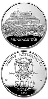 5000 forint Munkács Castle - 2006 - Series: Silver forint coins - Hungary