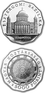5000 forint Esztergom Basilica - 2006 - Series: Silver forint coins - Hungary
