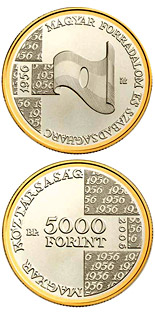 5000 forint 50th Anniversary of the 1956 Hungarian Revolution and War of Independence - 2006 - Series: Silver forint coins - Hungary
