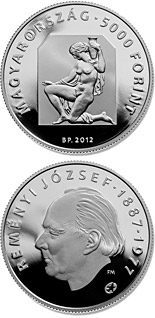 5000 forint 125th Anniversary of Birth of József Reményi - 2012 - Series: Silver forint coins - Hungary