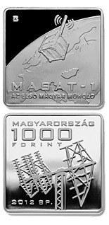 1000 forint The Launch of Hungary's First Satellite MASAT-1 - 2012 - Series: Commemorative 1000 forint coins - Hungary