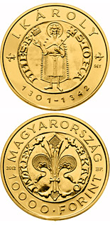 10000 forint coin The Gold Florin of Charles I. (1301-1342) | Hungary 2012