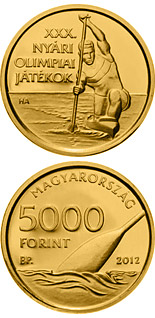 5000 forint XXX. Summer Olympic Games - 2012 - Series: Gold forint coins - Hungary