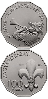 100 forint coin 100th Anniversary of The Hungarian Scout Association | Hungary 2012