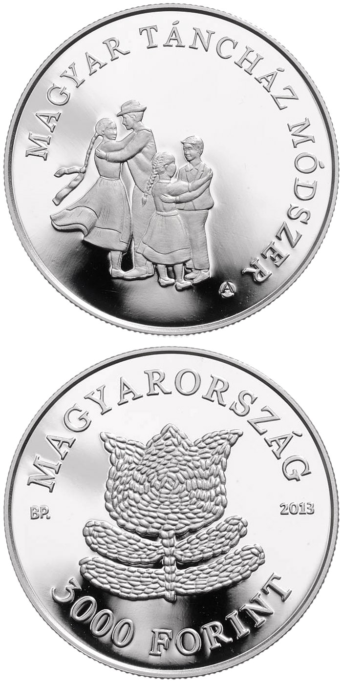 "Image of a coin 3000 forint | Hungary | The Hungarian ""Táncház"" (Dance-House) Method 