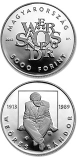 5000 forint 100th Anniversary Of Birth Of Sándor Weöres - 2013 - Series: Silver forint coins - Hungary