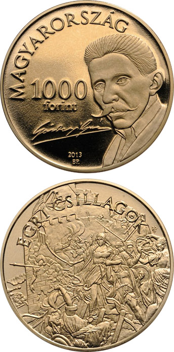 1000 forint Stars Of Eger Novel By Géza Gárdonyi - 2013 - Series: Commemorative 1000 forint coins - Hungary