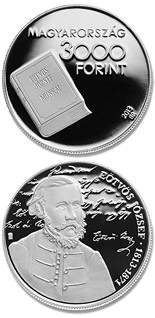 3000 forint 200th Anniversary of Birth Of József Eötvös - 2013 - Series: Silver forint coins - Hungary