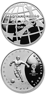3000 forint coin 2014 FIFA World Cup Brazil | Hungary 2013