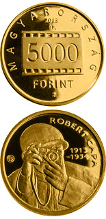 5000 forint coin 100th Anniversary Of Birth Of Robert Capa | Hungary 2013