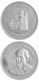 2000 forint coin 200th Anniversary of  Birth of MIKLÓS YBL (1814-1891)  | Hungary 2014