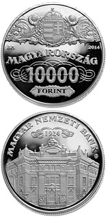 10000 forint 90th Anniversary of the Foundation of the National Bank of Hungary  - 2014 - Series: Silver forint coins - Hungary