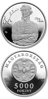 5000 forint coin 150th Anniversary of Death of ANDRÁS FÁY (1786-1864) | Hungary 2014
