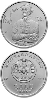 2000 forint coin 150th Anniversary of Death of ANDRÁS FÁY (1786-1864) | Hungary 2014