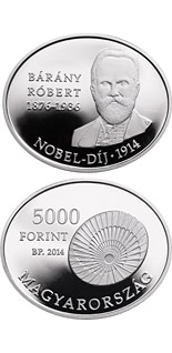 5000 forint coin 100th Anniversary of the award of the Nobel Prize to RÓBERT BÁRÁNY (1876-1936)  | Hungary 2014