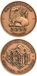 2000 forint coin Somogyvár-Kupavár National Memorial place | Hungary 2014