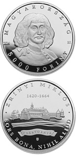 5000 forint coin 350th Anniversary of Death of MIKLÓS ZRÍNYI (1620-1664) | Hungary 2014