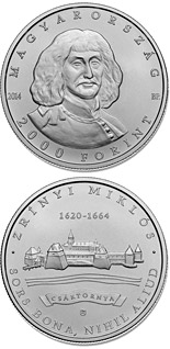 2000 forint coin 350th Anniversary of Death of MIKLÓS ZRÍNYI (1620-1664) | Hungary 2014