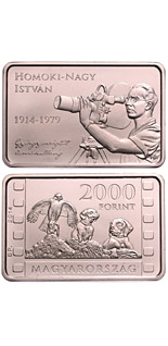 2000 forint coin 100th Anniversary of Birth of ISTVÁN HOMOKI-NAGY (1914-1979) | Hungary 2014