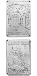 2000 forint coin 100th Anniversary of Death of ÖDÖN LECHNER (1845-1914) | Hungary 2014