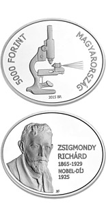 5000 forint coin 90th Anniversary of the Award of the Nobel Prize to Richard Zsigmondy | Hungary 2015