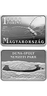 10000 forint coin Danube-Ipoly National Park  | Hungary 2015