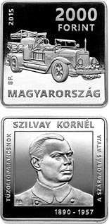2000 forint coin 125th Anniversary of Birth of Kornél Szilvay (1890-1957)  | Hungary 2015