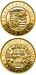 50000 forint coin Gold Florin of Sigismund (1387-1437) | Hungary 2016