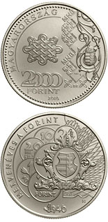 2000 forint coin 70th Anniversary of the Forint | Hungary 2016