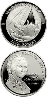 10000 forint coin 200th Anniversary of Birth of Zsuzsanna Kossuth | Hungary 2017