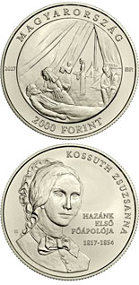 2000 forint coin 200th Anniversary of Birth of Zsuzsanna Kossuth | Hungary 2017