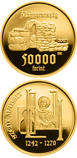 50000 forint coin 775th Anniversary of Birth of Saint Margaret of Hungary | Hungary 2017