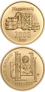 2000 forint coin 775th Anniversary of Birth of Saint Margaret of Hungary | Hungary 2017