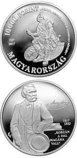 10000 forint coin 200th Anniversary of Birth of János Aran | Hungary 2017