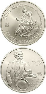 2000 forint coin 200th Anniversary of Birth of János Arany | Hungary 2017
