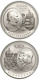 2000 forint coin 150th Anniversary of the Austro-Hungarian Compromise of 1867 | Hungary 2017