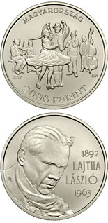 2000 forint coin 125th Anniversary of Birth of László Lajtha | Hungary 2017