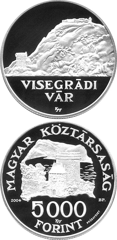 Image of a coin 5000 forint | Hungary | Visegrád Castle | 2004